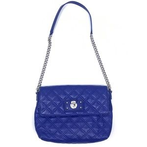 Marc Jacobs 'The Large Single' Blue Quilted Bag